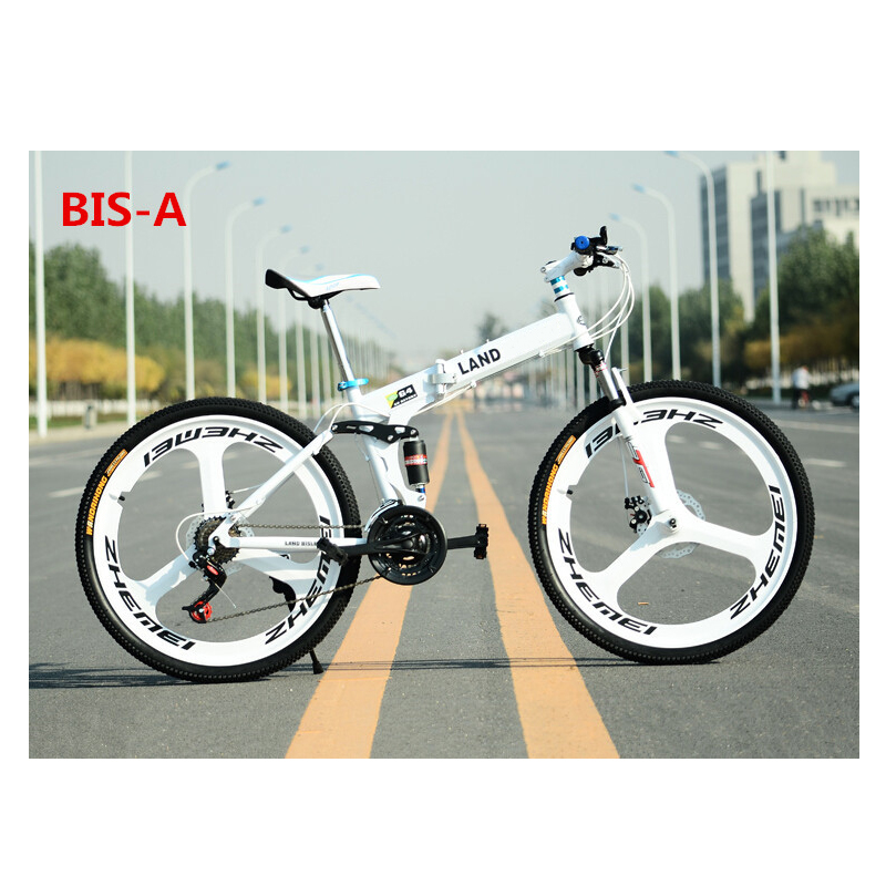 21 Gears Folding Mountain Bike with Disc Brakes