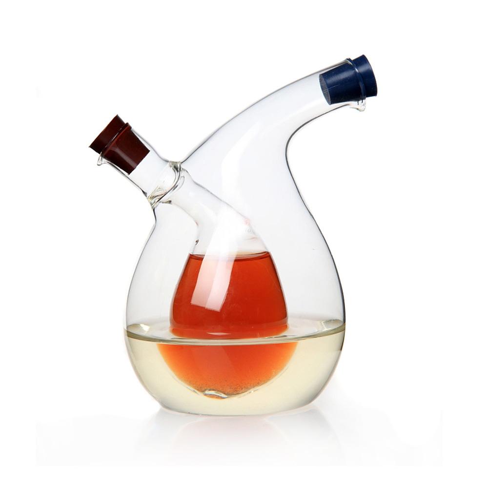 Free Shipping Multipurpose Large Kitchen Seasoning Bottle Green Glass Oiler oil can leak oil vinegar sauce bottle High Quality(China (Mainland))