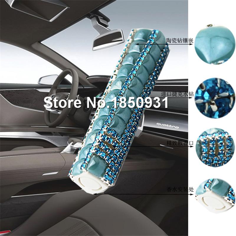 10PCS New Stick Diamond Car Outlet Perfume Auto Magic Wand Shape Fragrance Vent Air Freshener Solid Perfume Decoration Accessory(China (Mainland))