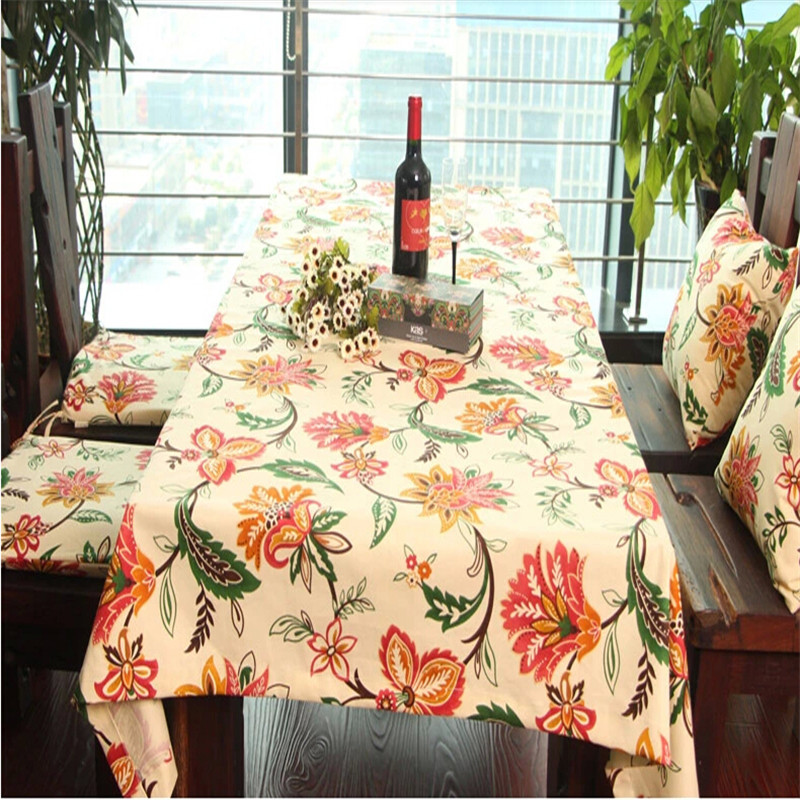 Free Shipping Zakka Home/Dining Room Tablecloth Cotton& Linen Table Cloth Waterproof Oilproof tablecover(China (Mainland))