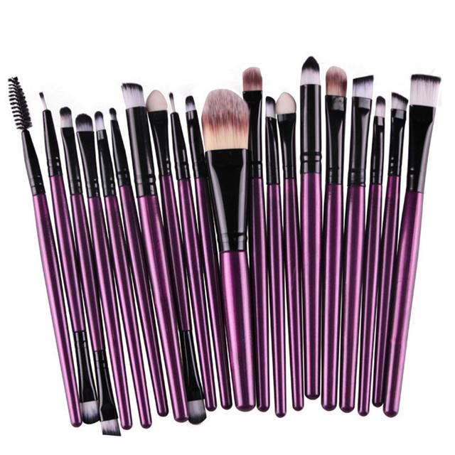 20 шт. фиолетовый макияж кисти Set Pro румяна основа EДаhadow карандаш для глаз для ...