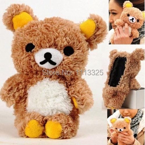 Cute 3D Teddy Bear Doll Toy Plush Case Cover Samsung Galaxy Core II 2 G355H - facom store