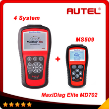 AUTEL MaxiDiag Elite MD702 4 System + DS Model OBDII Code Reader MD 702 Engine + Transmission + ABS + Airbag (China (Mainland))