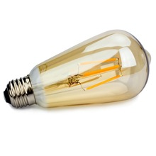 Buy Vintage LED Filament Bulb Edison ST64 Golden Style 4W E26 110V Dimmable Energy Saving Lamp Replace Incandescent Bulb Lights for $9.99 in AliExpress store