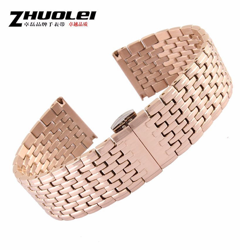 20mm 22mm Stainless Steel Replacement Watch Strap Band Deployment Watch Clasp