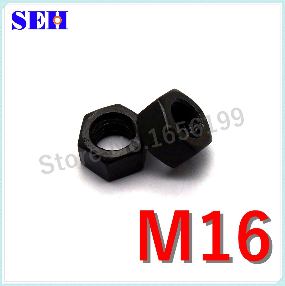 100pcs Pop Nut M16 High Quality Stainless Carbon Steel Grade 8.8 Black Hex Nut Screw Thread Nut(China (Mainland))