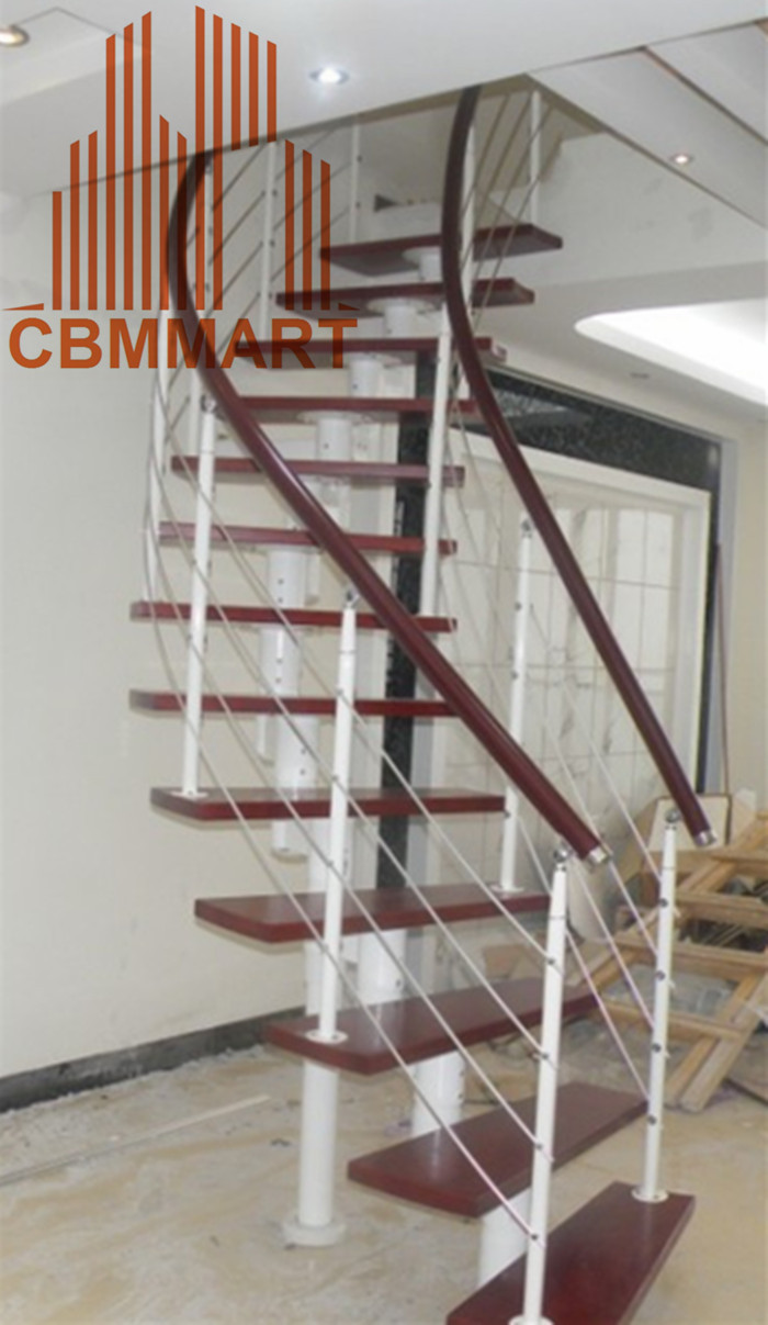 steel wood spiral stairs design(China (Mainland))