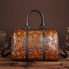 Buy Real Genuine Leather Women Tote Handbag First Layer Cowhide Embossed Crossbody Bags Female Shoulder Messenger Bag Traveling for $42.41 in AliExpress store