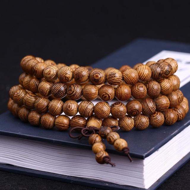 108 * 0.8 см венге молитва бусины тибетского буддизма Mala будда браслет четки деревянные ...