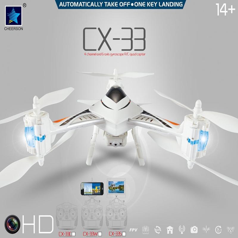2016 Hot Sale Cheerson CX-33W-TX CX33W 2.4G 720P HD Camera WIFI FPV High Hold Mode RC Tricopter<br><br>Aliexpress