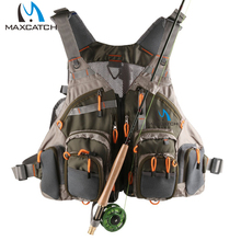 FREE SHIPPING Fly Fishing Vest With Multifunction Pockets Mesh Fishing Backpack Fly Fishing Vest Fly VEST