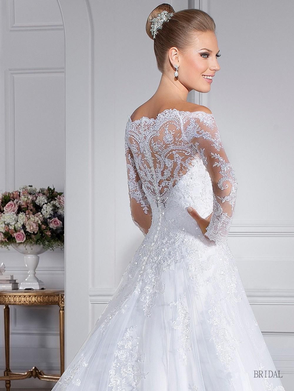 Vestido De Noiva Vestido De casamento Custom Made colher ver através voltar Zipper botão frisada Appliqued manga comprida Lace Vestido De Noiva