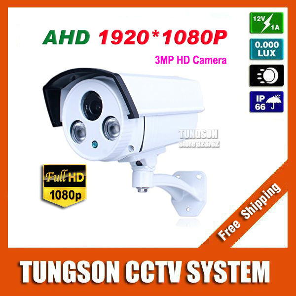 New Product Full HD 1920P Outdoor Surveillance Array infrared Security AHD Technology 3MP CCTV Camera With Bracket Free shipping(China (Mainland))