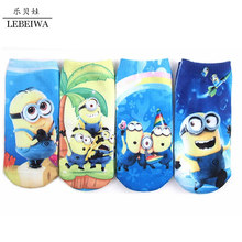 4-9 Years Spring Summer Cotton Kids Socks Minion 2 Cartoon Cute Breathable Warm Boys Girls Children'S Clothing 4 Style Optional