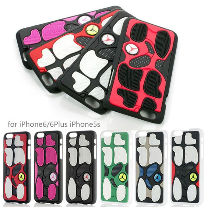 In Stock 1PC Fast Free Shipping 3D Rubber Michael Jordan AJ13 Sports Shoe Sole Case Cover Coque Carcasa For iPhone 5 5S 5G(China (Mainland))