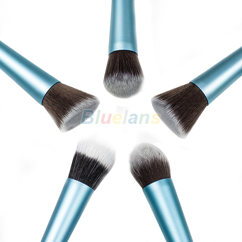 2015 nova Hot3 cores 5 tipos New Women Professional pó Blush cosméticos Stipple Foundation Brush Tool maquiagem 5 modelos 09T6