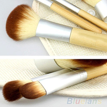5pcs/set Hot Selling New BAMBOO Makeup Brush Set Make Up Brushes Tools 02PY