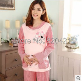 L to XXXL Pregnant Pyjamas Autumn and winter clothing quality cotton long-sleeved thick Breastfeeding clothes <br><br>Aliexpress