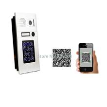 Wifi Wireless IP Doorbell Intercom System with POE RJ45 WIFI Digital Doorbell Password Unlock font b