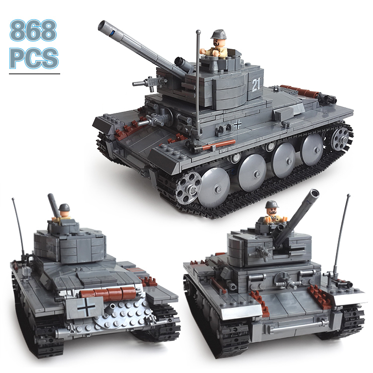 Building Block Set Compatible lego Century Military PZKPFW-II tanks 3D Construction Brick Educational Hobbies Toys Kids