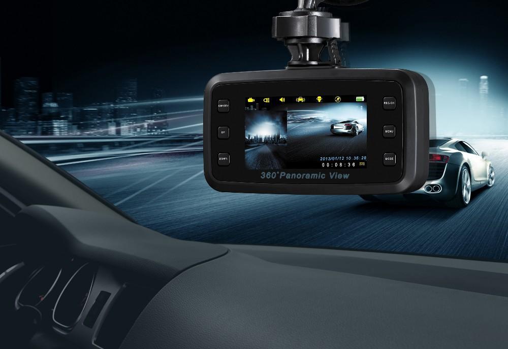 2.7 Inch 270 Degree G-sensor IR Night Vision TFT LCD Dual 2 Lens Dash HD DVR Car Kit Vehicle Camera Cam Video Recorder(China (Mainland))