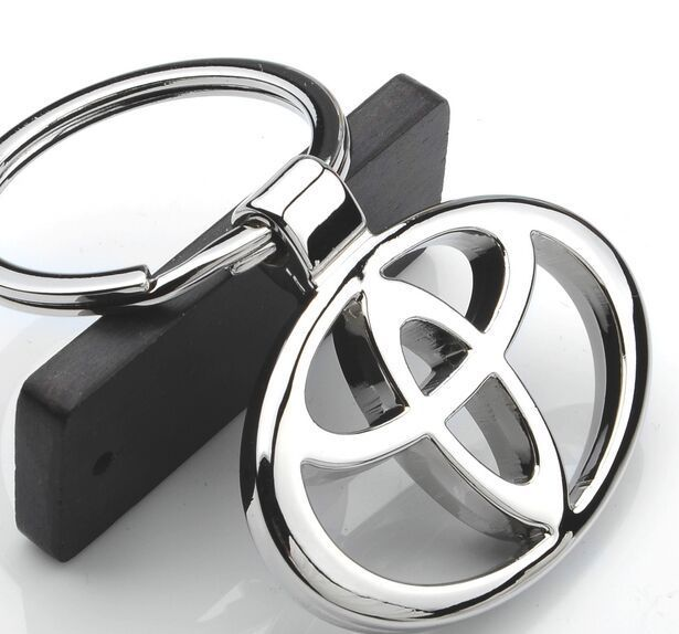 2015 new Metal car standard key ring key chain gift noble for Toyota car styling(China (Mainland))