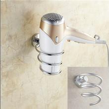 Полка ванной в стойке настенный фен держатель пространство алюминия стена ванной хранения держатель фен