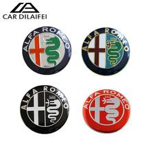 2015 74mm ALFA ROMEO Car Logo front emblem rear Badge sticker Mito 147 156 159 166 Giulietta Spider GT - DI LAI FEI Co.,Ltd Store store