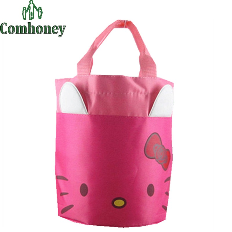 Hello Kitty Picnic Bag for Lunch Sponge Bob Cartoon Handbag Minions Despicable Me Lunch Bag for Kids Picnic Totes Carry Case(China (Mainland))