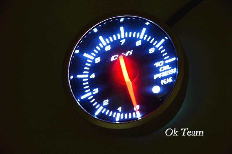Прибор для авто Oil press white red light Autogauge PSI светильник 3d light fx авто red
