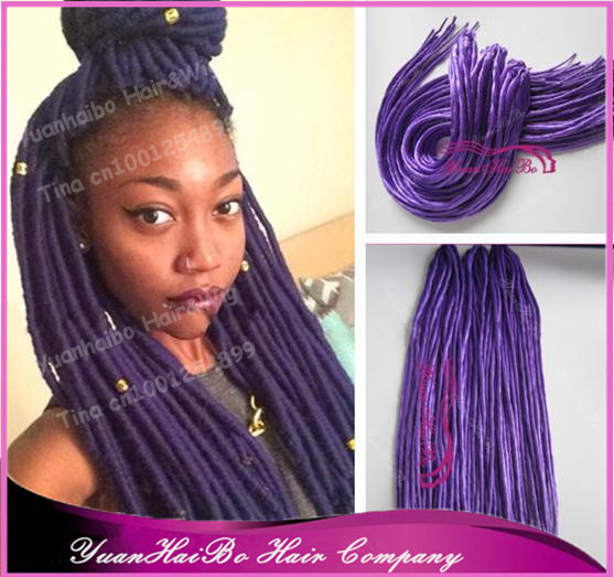 Stock! 22 fold purple color synthetic dreadlock hair extensions for black women, 10g/strand, 100g/bag, free shipping<br><br>Aliexpress