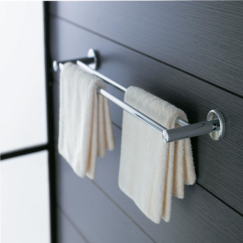 ENTERN Bathroom hardware accessories copper chrome plated double layer towel rack bath towel bar YD2248AL(China (Mainland))