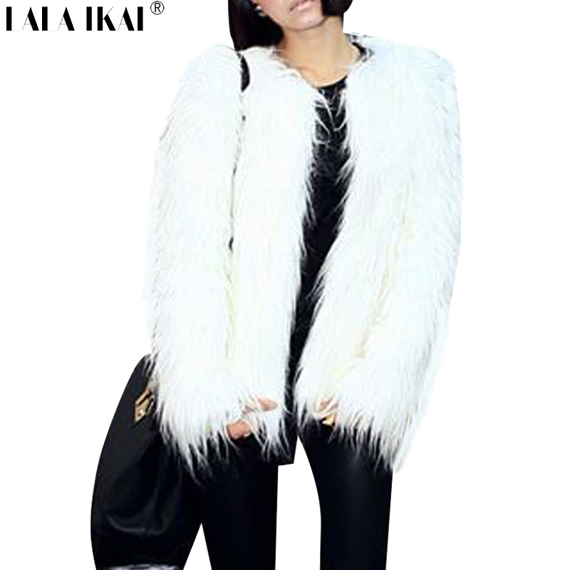 Women Brand Fake Fur White Jacket Winter Nature Fur Coat Long Hairy Faux Fur Outerwear Female Coat SWQ0077Одежда и ак�е��уары<br><br><br>Aliexpress