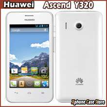 """4.0"""" Original Huawei Ascend Y320 MTK6572 1.0GHz Dual Core Mobile Phone Android 2.3.6 Cell Phones ROM 4GB Dual SIM WCDMA GSM 2MP"""
