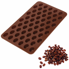 New Arrival High Quality Silicone 55 Cavity Mini Coffee Beans Chocolate Sugar Candy Mold Mould Cake Decor E082(China (Mainland))