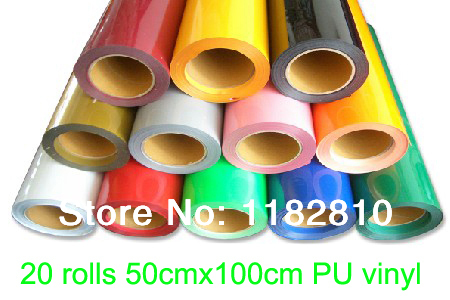 "Heat transfer PU vinyl heat press cutting plotter 20 rolls 50cmx100cm (20""x3')(China (Mainland))"