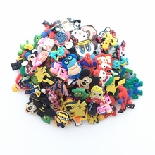 1pcs cartoon mickey pokemon kitty shoe charms shoe accessories for wristbands croc jibz best gift for shoe decoration Kids gift(China (Mainland))