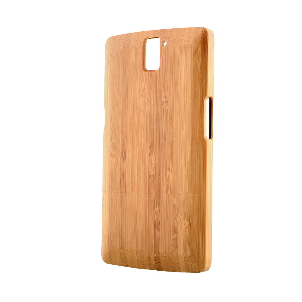 Light Brown Bamboo Back Phone Cases Cover Skin Bamboo Wood Hard Shell Bumper MOBILE Case For OnePlus One(China (Mainland))