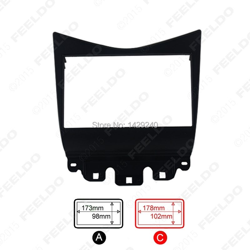 Double Din Fascia for Honda Accord 2002-2007 Radio DVD Stereo CD Panel Dash Mounting Installation Trim Kit Face Frame Fasica(China (Mainland))