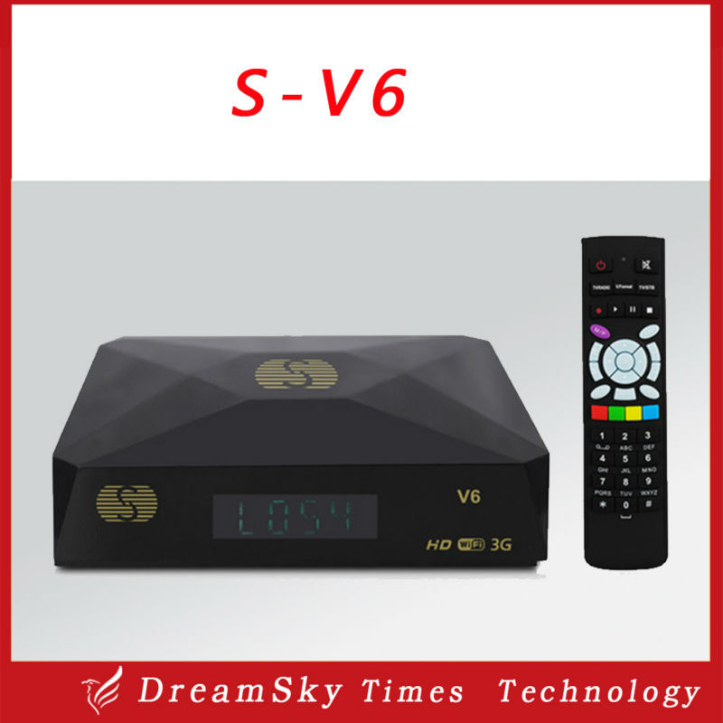 5pcs S-V6 Mini HD Satellite Receiver S V6 Support CCCAMD Newcamd WEB TV USB Wifi 3G Biss Key Youporn Free Shiping(China (Mainland))