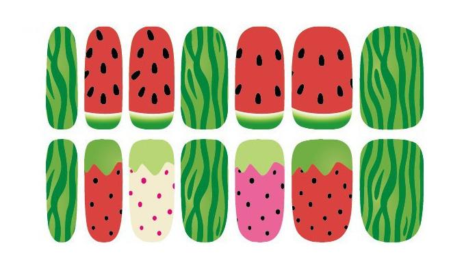 K5648 Water Transfer Nail Sticker Minx Cute Cartoon Watermelon Design Nails Art Decoration Manicure Foil Decals Free Shipping(China (Mainland))