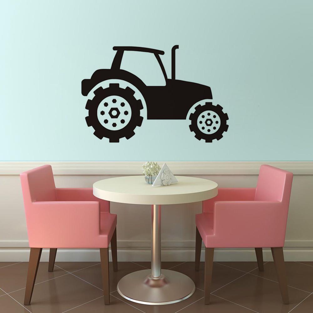 Kinder Traktor Wandaufkleber Selbstklebende Vinyl Wandtattoos Für Kinder  Zimmer Auto Kunst Wandbild Home Decor Abnehmbare Wasserdicht