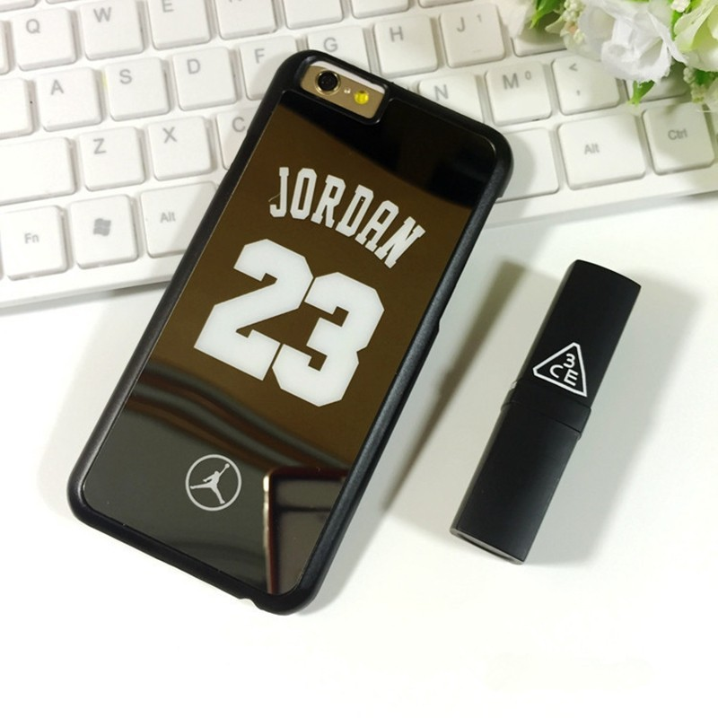 Case for iPhone 6 6S Plus NBA brand Michael Jordan 23 fundas PC Hard Mirror Phone Case Cover for iPhone 6 6s 6 Plus 5 5s Cover