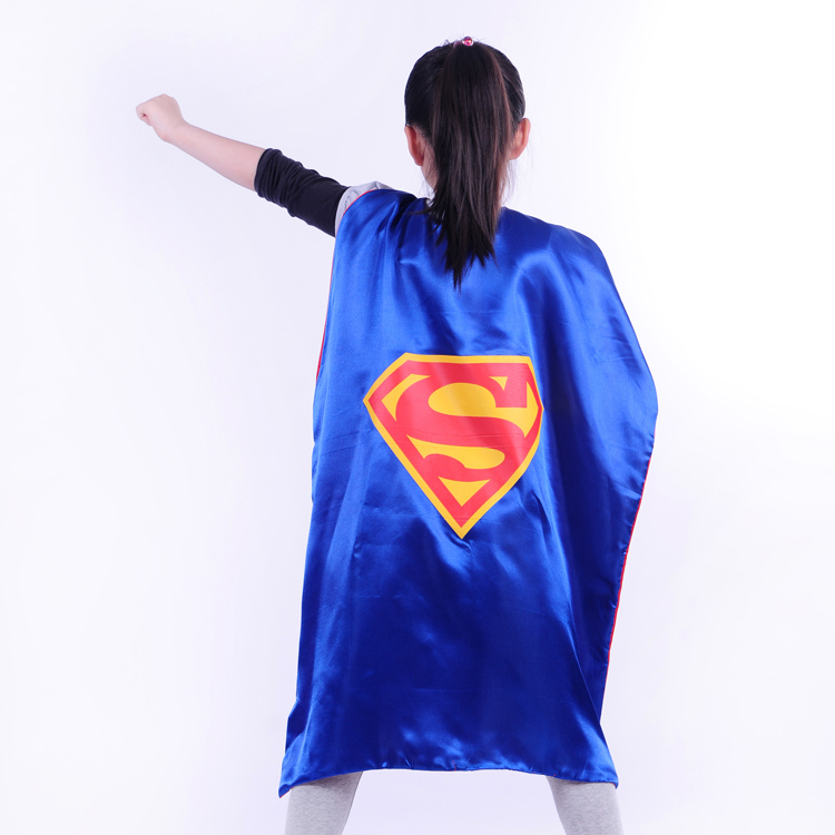 Hot Sale children Kids superhero capes (cape+mask) batman ,spiderman cape Kids Party Halloween cosplay costume
