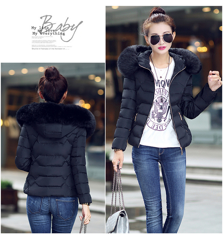Spring and winter short jacket down jacket Women Korean Slim thermal jacket thickening collar