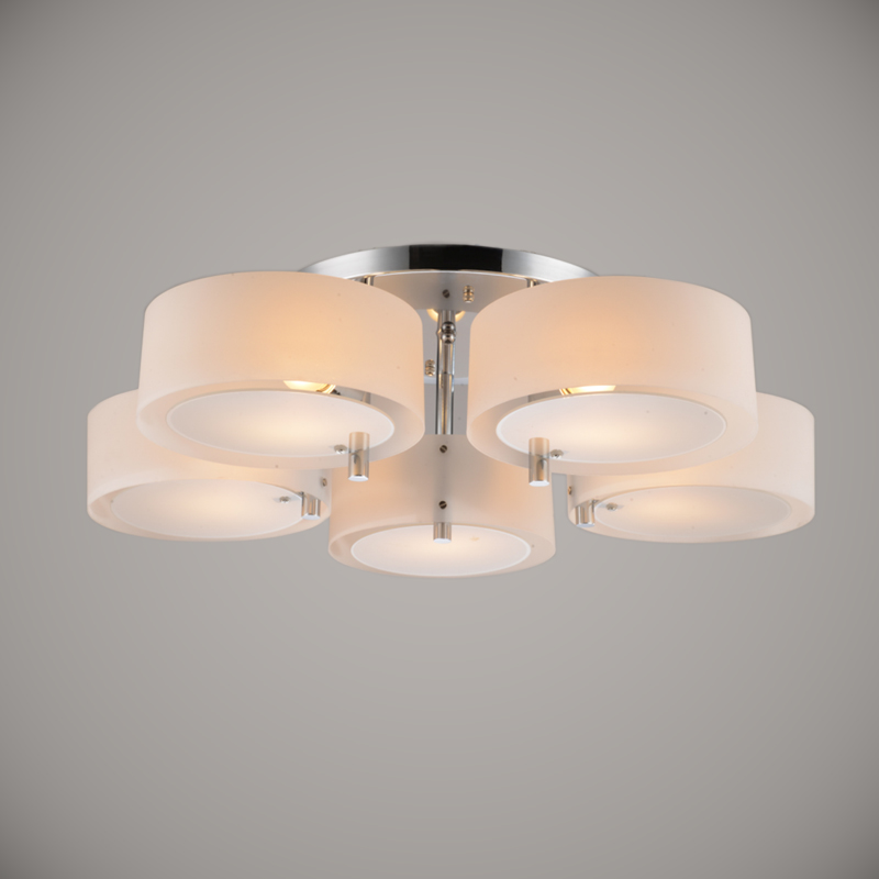 Modern Crystal Led Ceiling Light 5 Lights E27 E26 Acrylic Shades Led Flush Mo