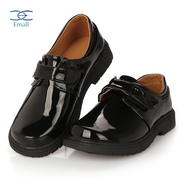 2016 мода детская обувь черные Кожа PU является высокотехнологичным и высокосортным ...