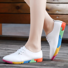 Women Shoes Genuine Leather Oxford Shoes For Wome Fashion Spring and Autumn  Flat heel Shoes Free Shipping