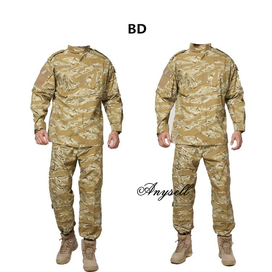 Tema uniformes Army-military-tactical-cargo-pants-uniform-waterproof-camouflage-tactical-military-bdu-combat-uniform-us-army-men