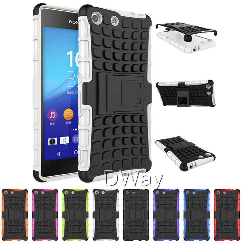 Здесь можно купить  Hybrid Rugged Heavy Duty Hard Cover Case for Sony Xperia M5 Stand Phone Case With Kickstand 2in1 10PCS/LOT  Телефоны и Телекоммуникации
